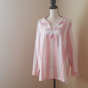 Old Navy linen cotton tunic top shirt blouse XL
